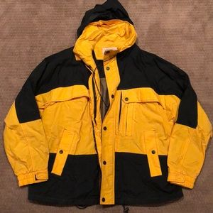 Mens Yellow & Black Rain Jacket